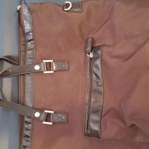 Giorgio Armani huge brown travel bag